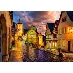 Rothenburg v objemu noči...