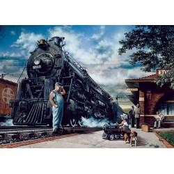 Lokomotiva na postaji (1000...