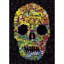Jon Burgeman - Doodle Skull...