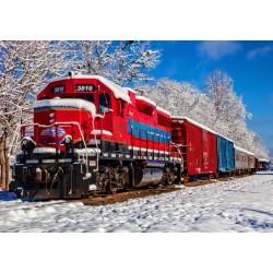 Rdeči vlak v snegu (1500...