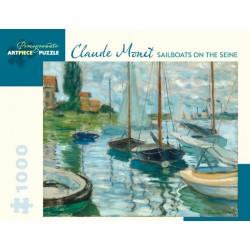 Monet: Sailboats on Seine...