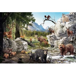 Gozdne živali (40 kosov) -...