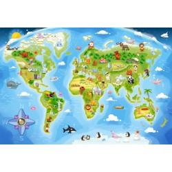 Zemljevid sveta (40 kosov)...