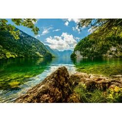 Jezero Koenigsee v Nemčiji...