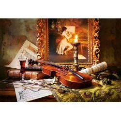 Tihožitje z violino in...