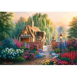 Koča v cvetličnem vrtu...