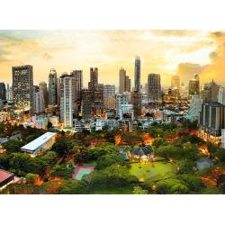 Sončni zahod v Bangkoku...